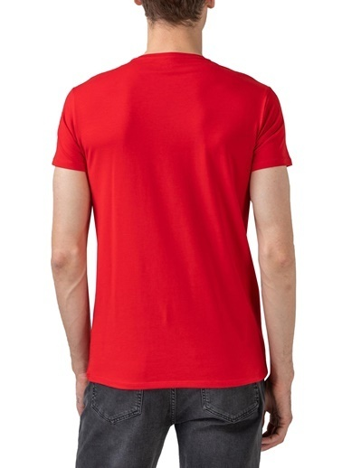 Lacoste  Pamuklu Slim Fit Bisiklet Yaka T Shirt Erkek T Shırt Th0998 240 Kırmızı